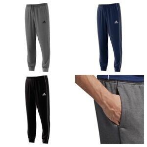 03acbaacde8d Adidas Core 18 Mens Fleece Tracksuit Jogging Bottoms Joggers Black ...