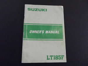 Suzuki-LT185F-LT185-LT-185-1984-Model-Genuine-Owners-Manual-Handbook