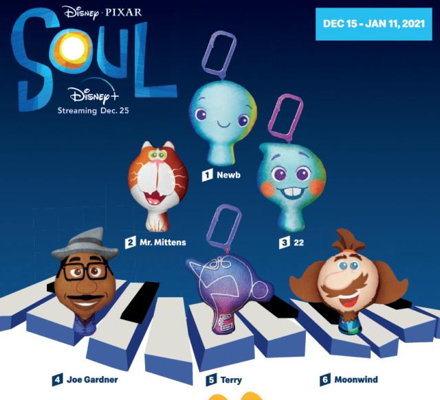 New McDonald's 2020 Disney Pixar Soul HAPPY MEAL TOYS OR SET