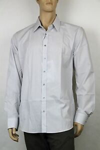 New-Gucci-Mens-Shirt-Classic-Fit-Blue-Gray-Pinstripe-353361-1710