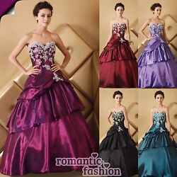 ♥Brautkleid Ballkleid, Abendkleid 5 Farben+Größe 34 bis 58 zur Auswahl+NEU♥