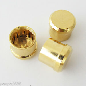 12pcs X Noise Stopper Gold Plated Copper Cap Dust Protector Rca Plug Caps Strong Packing Digital Cables Plug & Connectors