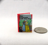 THE PRINCESS AND THE PEA Miniature Book Dollhouse 1:12 Scale Illustrated Book