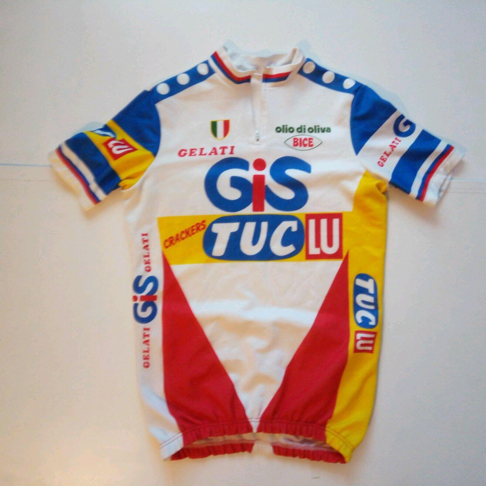 SEB Gelati GIS Tuc Lu Radfahren jersey shirt. Xl herren. Racing  Olive Oil