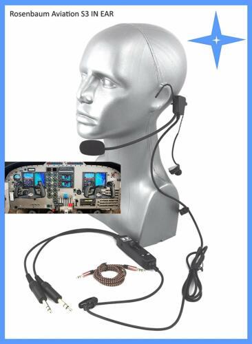 UL Allgemeine Luftfahrt Rosenbaum Aviation ® Piloten Headset S3 IN Ear