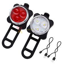Xtreme Bright® X-96 USB Rechargeable LED Bike Light Set 650 mAh USB Rechargeable