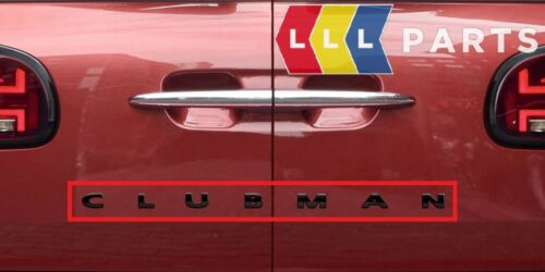 Nuevo Genuino Mini Clubman insignia con el logotipo en negro 51142465246