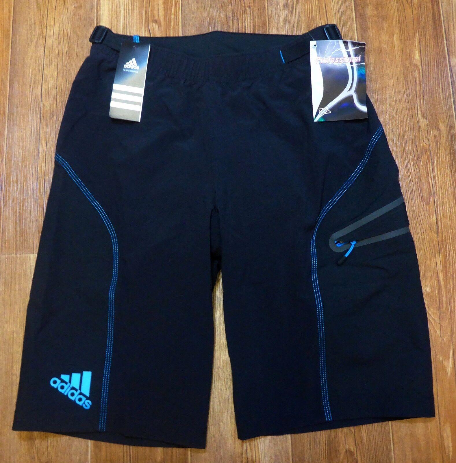 Men Bicycle Adidas Climalite Cycling BIB SHORTS Sport Bike Padded Shorts Size S