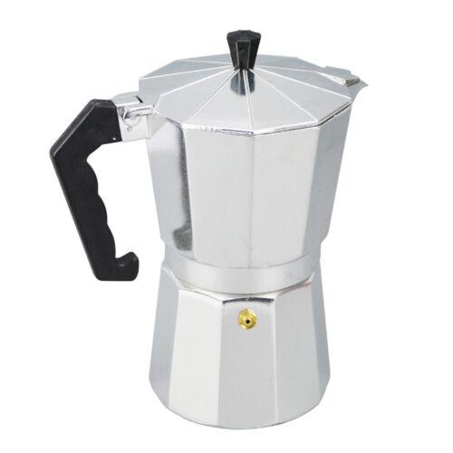 1//3//6//9//12 Tassen Aluminium Espressokocher Espressobereiter Mokka-Kanne