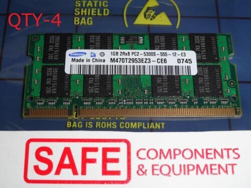 4X1GB Samsung 4GB Memory M470T2953CZ3-CE6 PC2-5300S DDR2 667Mhz SODIMM MM-457