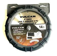 "14pc VULCAN 8"" STACKED DADO SAW BLADE SET CARBIDE TIPPED STACKING CIRCULAR 8285"
