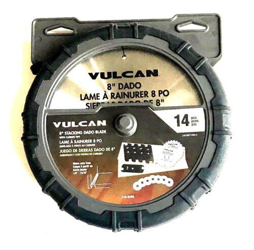 "14pc Vulcan 8/"" empilés Dado Lame De Scie Set Carbide Tipped Empileur circulaire 8285"