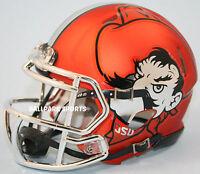 Oklahoma State Cowboys (orange Pistol Pete) Riddell Speed Mini Helmet