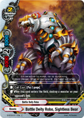 English Mint Sightless Bear D-BT02//0117EN C Buddyfight x 4 Battle Deity Robo