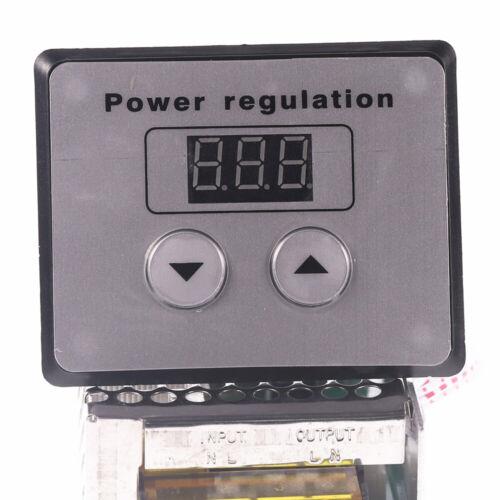 SCR Voltage Regulator Dimmer 4000W 220V AC Power Regulator Motor Speed Controls