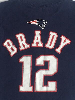 Tom Brady Shirt Size 2T 24 Months Reebok Tee Football Blue New England Patriots   eBay