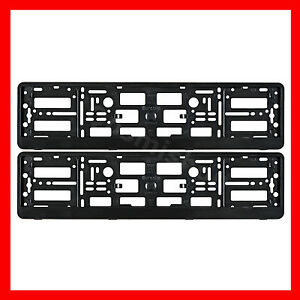 Image Is Loading 2x Black Effect License Number Plate Holder Surround
