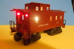 O-Scale-Lionel-lighted-Caboose-LED-Lighting-KIT-using-On-board-Battery-amp-Switch