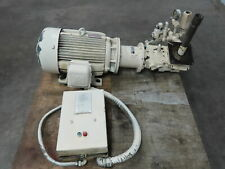 Vickers Pvb45a Rsf 10ca11 Hydraulic Piston Pump With 30 Hp Motor Withmotor Starter