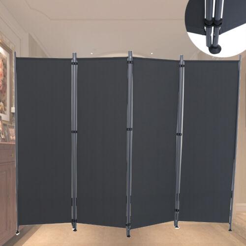 215cm Trennwand Raumteiler Paravent Spanische Wand Anthrazit Büro Sichtschutz DE