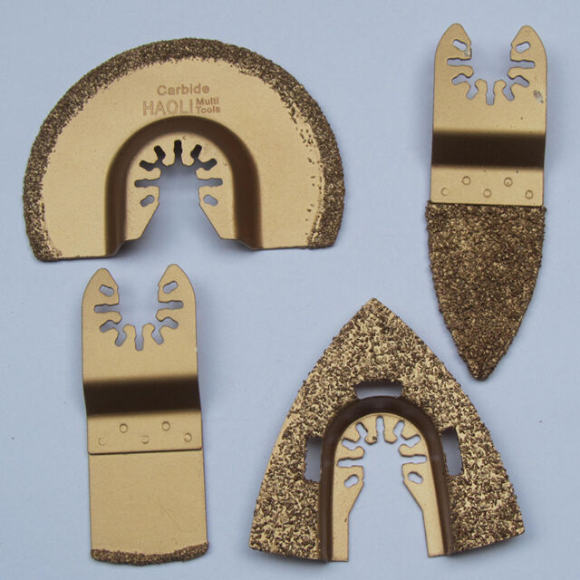 4 pcs quick release carbide  oscillating tool saw blades for Fein ,Black&Decker