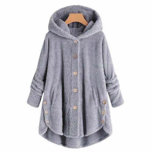 Women/'s casual winter warm fur collar hooded long coat jacket slim fit parka coa