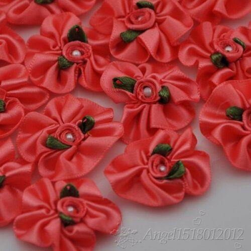 40//200pcs U Pick Mancha Cinta Flor W//pearl wedding//sewing//appliques Lotes A001