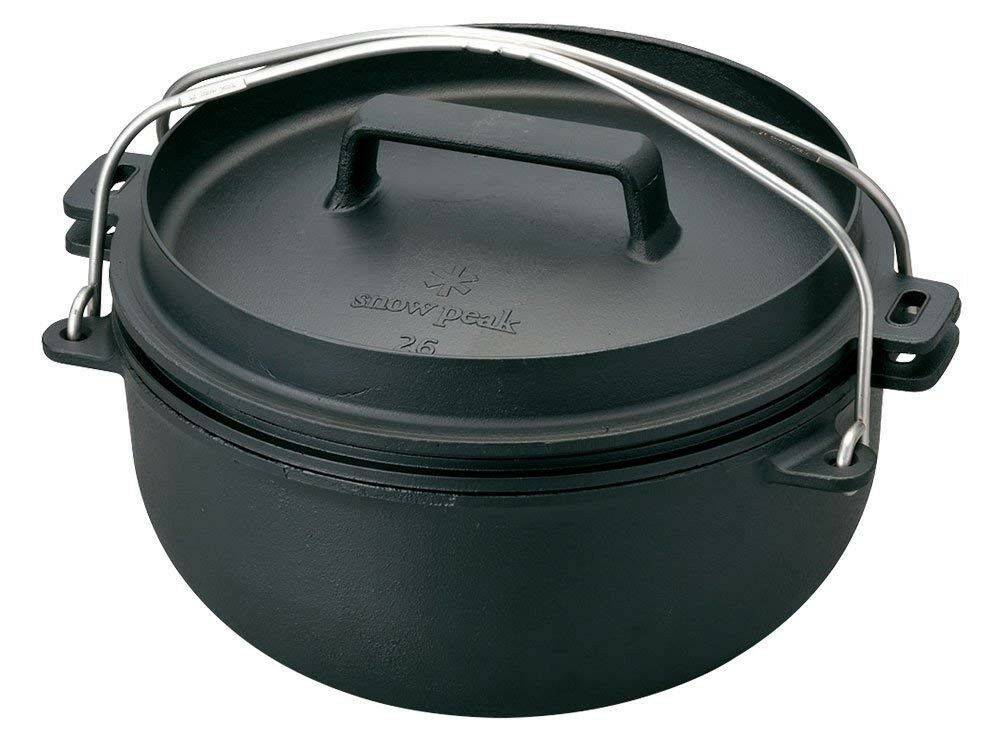 NEW snow peak CS-520 CAST  IRON OVEN 26 Dutch Oven Japan Import Fast Shipping  store