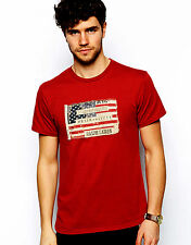 Ralph Lauren Mens Sailor Red T-Shirt with American Flag Patch - Size XL - NEW