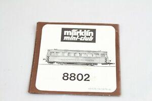 Livret Manuel Description Locomotive 8802 Nous Prenons Les Clients Comme Nos Dieux