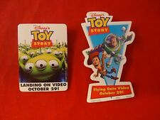 Toy Story Movie Home Release Promotional Button Pin Back Promo 2 Pins Toystory
