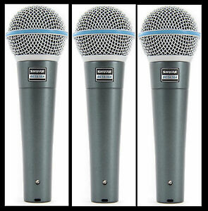 3-New-Shure-BETA-58A-Vocal-Mics-Authorised-Dealer-Make-Offer-Buy-It-Now