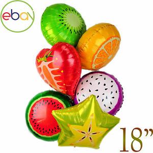 "18/"" Fruit Shape Foil Balloons Summer Beach Birthday Party decor Baloon Balon"