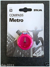 Silva Sweden Metro Pink Compass For Urban Use 36906-3005 With Carabineer Au ship