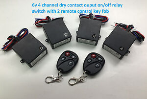 MSD-6V-4-channel-dry-contact-on-off-wireless-remote-key-fob-relay-switch-RS64