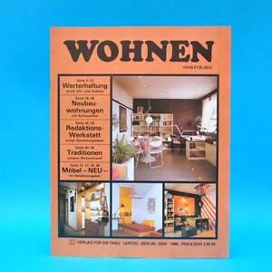 Ddr Wohnen 1986 Zeitschrift Wohnen Einrichten Innenarchitektur E