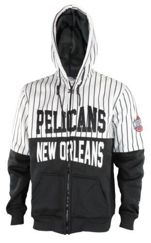 Zipway NBA Men/'s New Orleans Pelicans Bold Move Full Zip Hoodie Black//White
