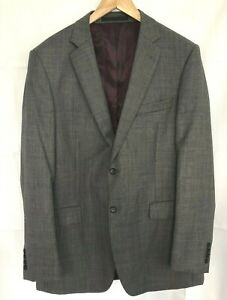 Mens Jacket  Blazer M&S  Size L 42in Grey 100% Pure New Wool Tailored Smart
