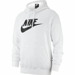 Details about NWT Men\u0027s Nike Sportswear Club Logo Pullover Hoodie White  Black