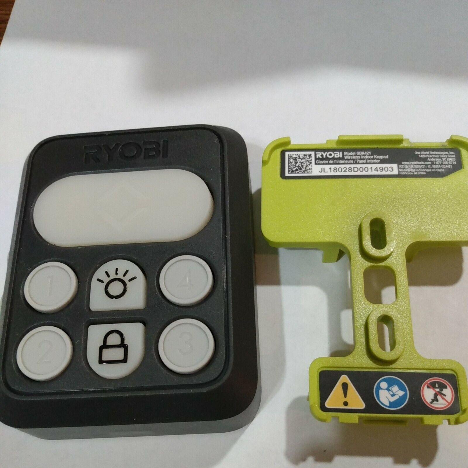 (1) Ryobi Garage Door GDA421 wireless indoor keypad Tested guarantee work