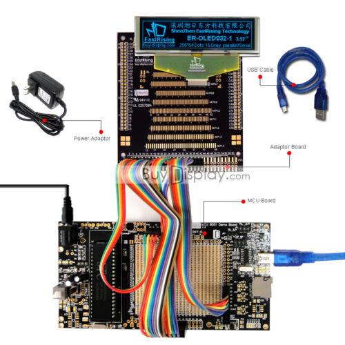 "8051 Microcontroller Development Board Kit USB Programmer for 3.2/""OLED Display"