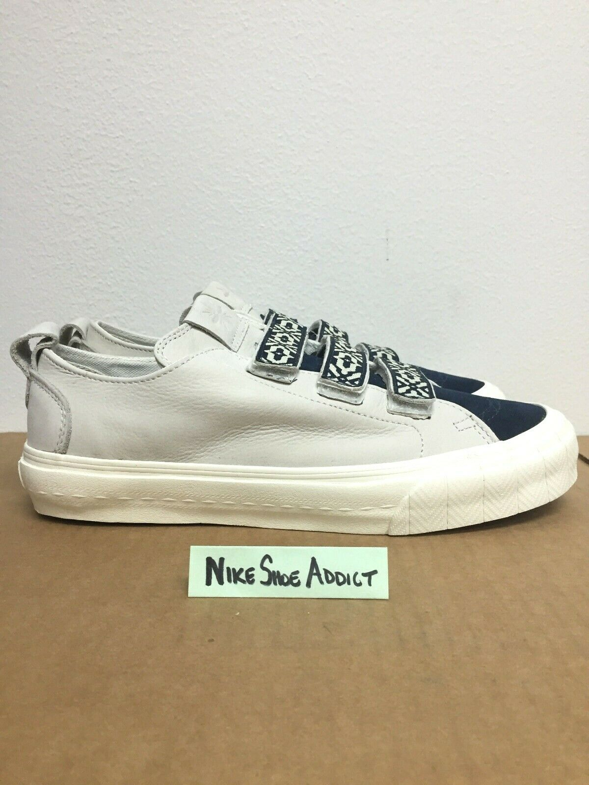 Vans Vault Suede Leather TH Taka Hayashi Court Lo Strap bluee White VN0A2Y35KCU