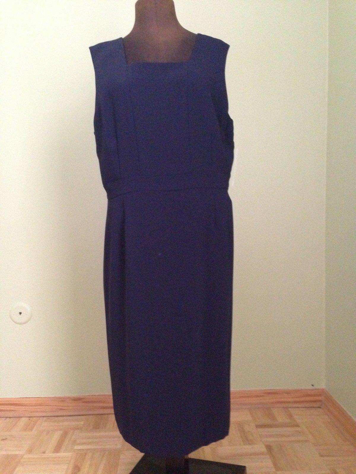 Pendleton Dress Women's 16 Navy Sleeveless Lined NWT MSRP  148