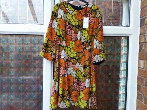Bnwt Rrp Anjelica Whistles 149 Dress Uk8 £ Tangerine Print Dream POiulTwkZX