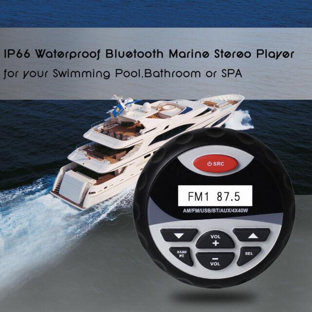 Marine Stereo Waterproof Boat Radio FM AM Bluetooth Car ATV UTV speaker Audio