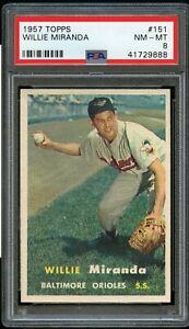1957-Topps-BB-Card-151-Willie-Miranda-Baltimore-Orioles-PSA-NM-MT-8