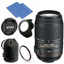 Nikon 55-300mm f/4.5-5.6G ED VR AF-S DX Zoom Lens for Nikon DSLR Camera +UV Kit