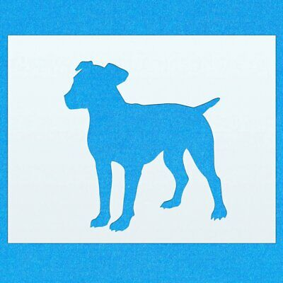 Jack Russell Perro Animales de Mylar Aerógrafo Pintura Pared stencil Art dos