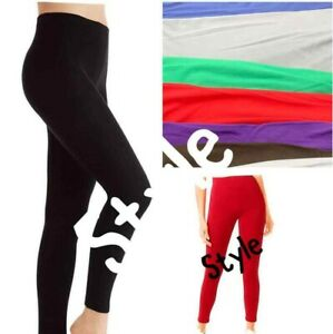 Ladies New Ankle Length Elasticated Stretchy VISCOSE Leggings Trouser Pants 8-22