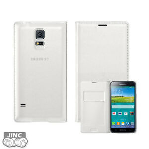 Genuine-Original-Samsung-GT-i9700-Galaxy-S5-S-5-V-Wallet-Flip-Cover-Case-Pouch
